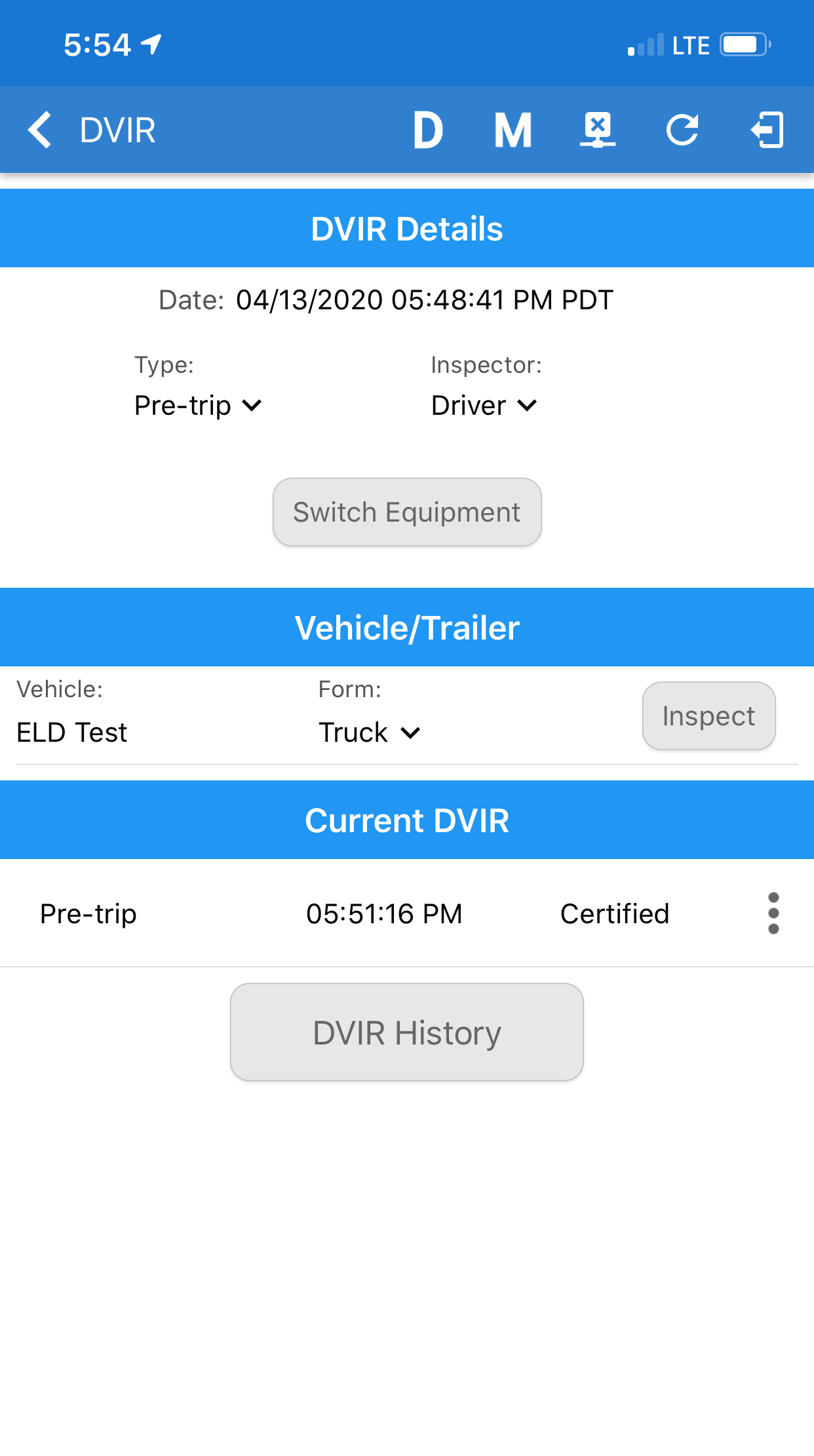 One Step GPS Fleet Tracking app display with vehicle activity list